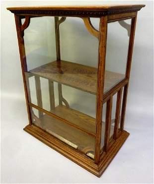 "Circa 1900 Oak Counter Top Showcase - hgt 37.5"" width"