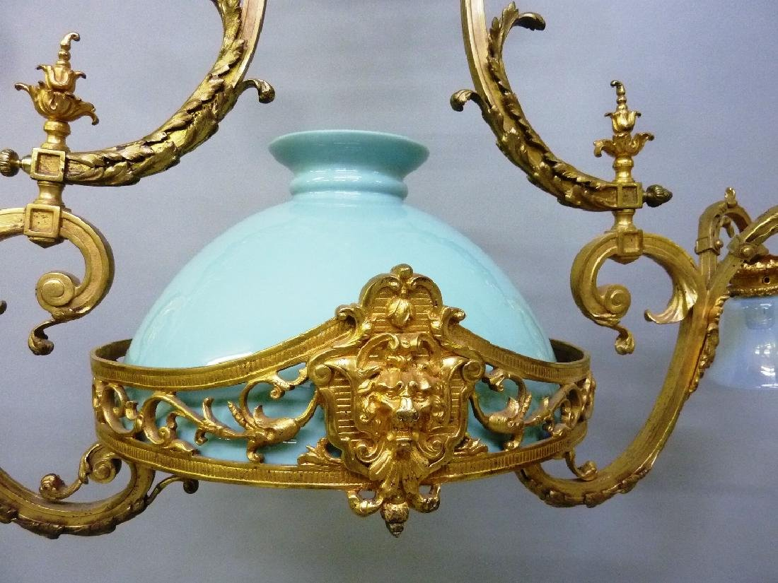 Early 20th Century Solid Bronze French Chandelier with - 3