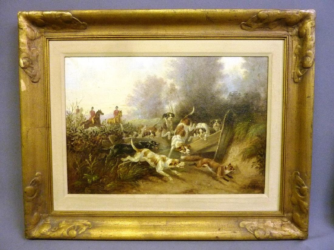 19th Century Oil on canvas,Signed lower right (Johanna