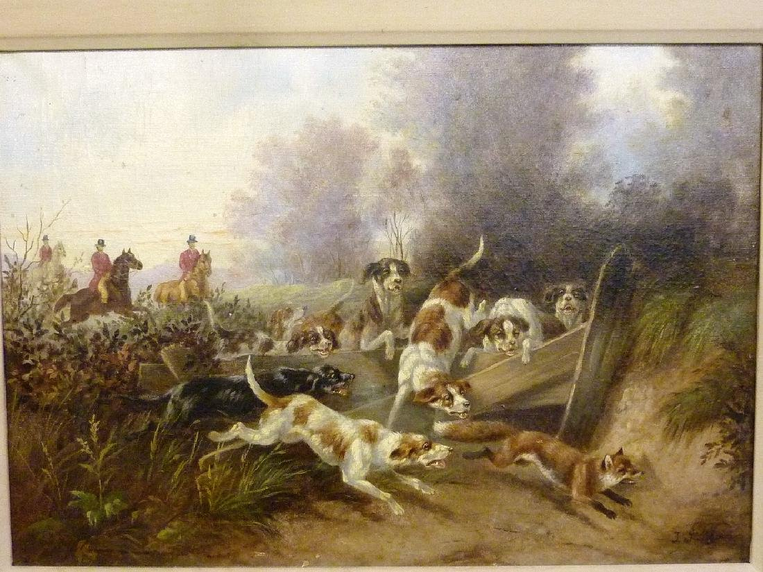 19th Century Oil on canvas,Signed lower right (Johanna - 2