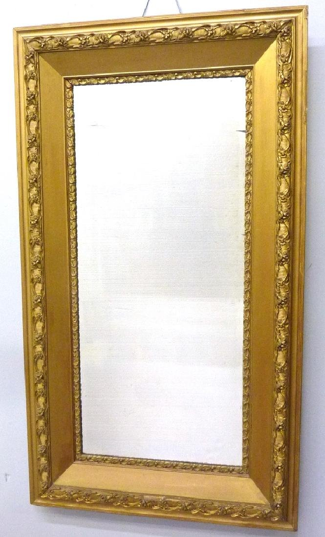 "Circa 1900 Gilded Wall Mirror - h 50"" w 28"".  Found in"