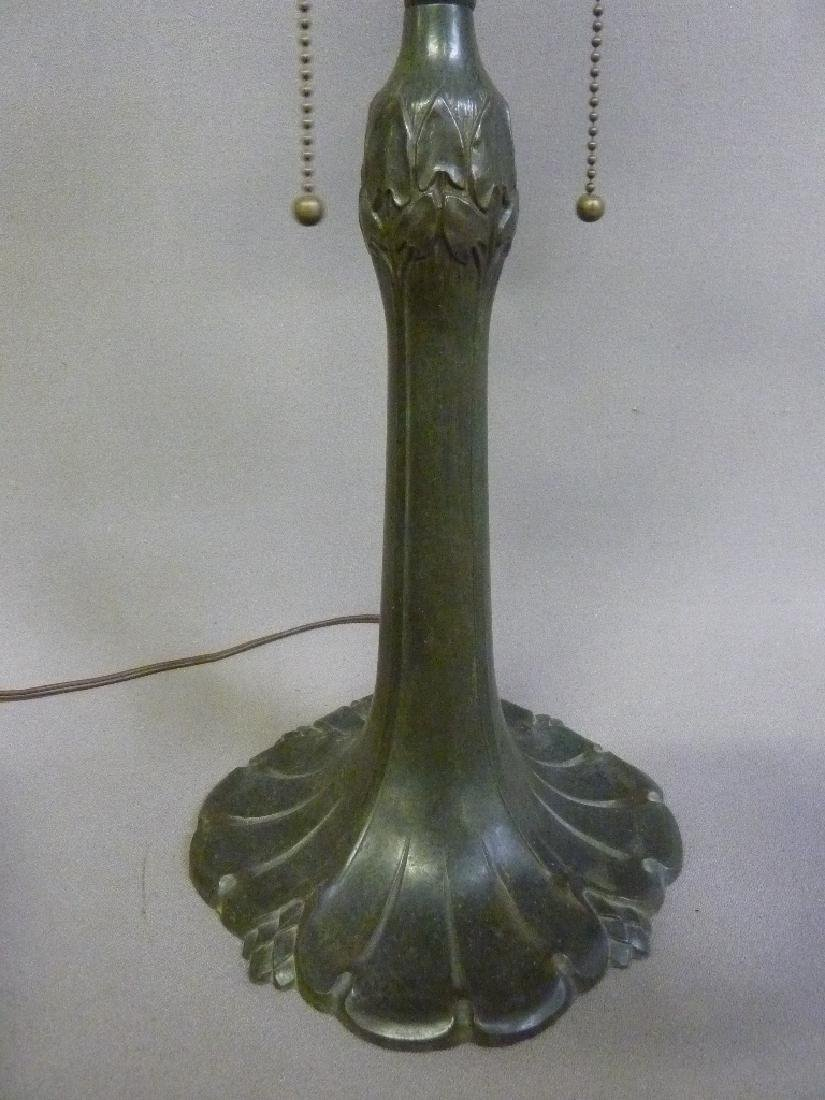 Signed (Pittsburg) Reverse Painted 1920's Table Lamp - - 5