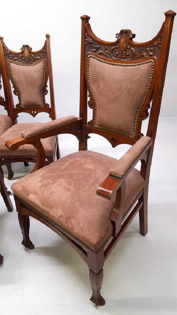 Circa 1900 Fantastic set of 12 Carved Dining Chairs - - 3