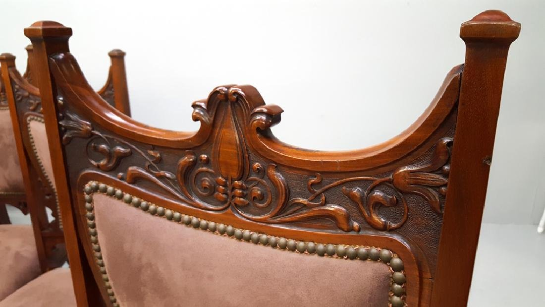 Circa 1900 Fantastic set of 12 Carved Dining Chairs - - 4
