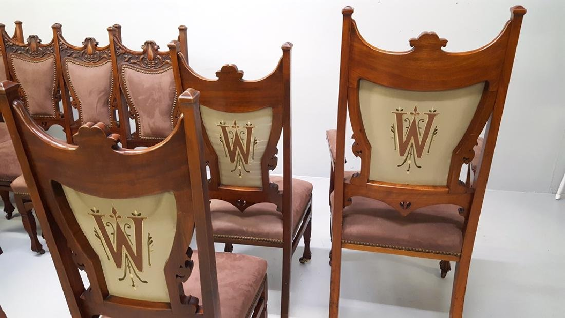 Circa 1900 Fantastic set of 12 Carved Dining Chairs - - 5