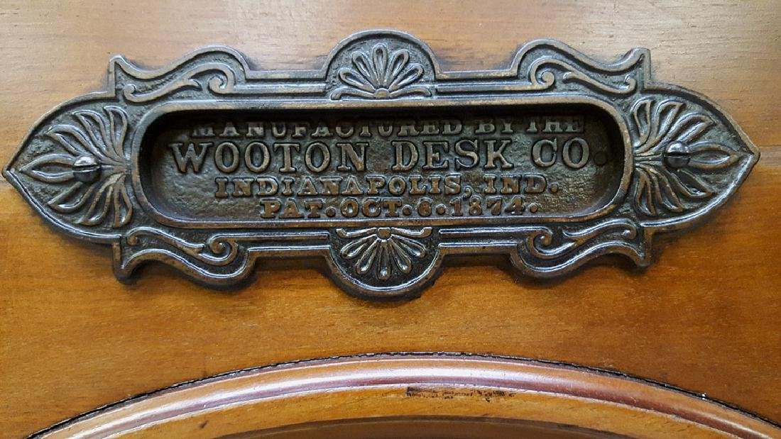 Signed (Manufactured by Wooton Desk Co.Indianapolis - 6