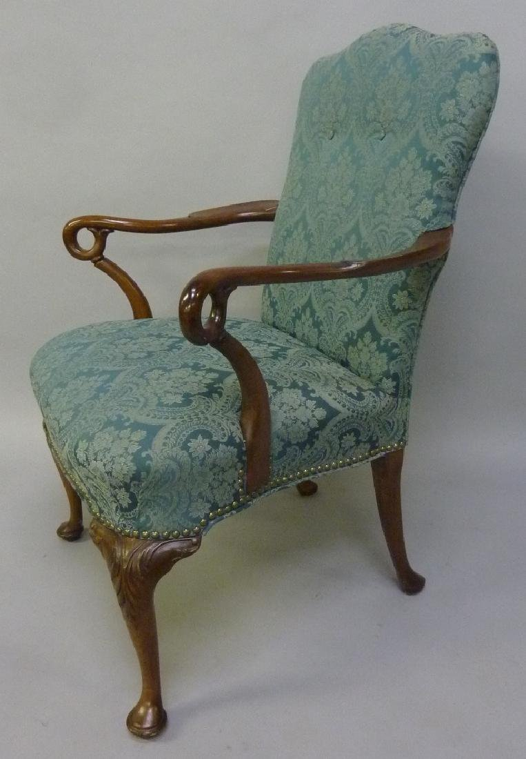 Circa 1920's Formal Mahogany Arm Chair with unique - 2
