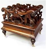 American Circa 1850's Rosewood Canterbury with original