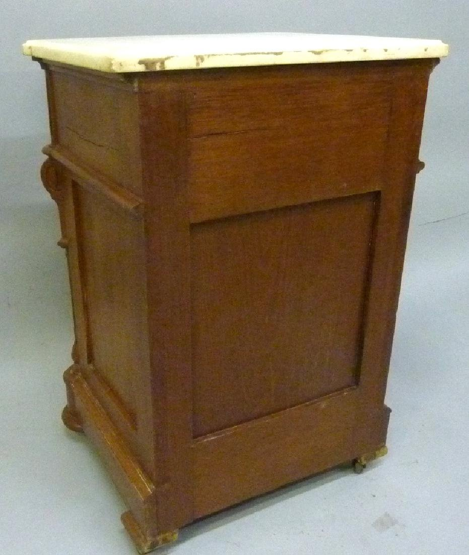 Circa 1870's Walnut Marble Top 1/2 Commode with nice - 3