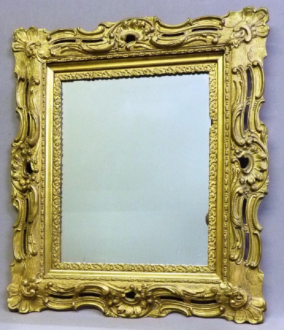 "Circa 1900 Gilded Wall Mirror - h 31"" w 27"".  Found in"
