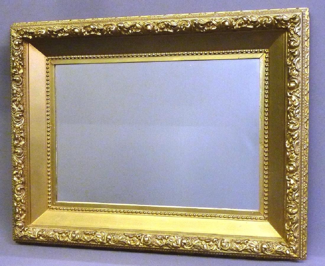 "Circa 1900 Gilded Wall Mirror - h 28"" w 36"".  Found in"