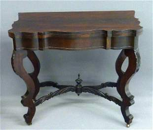 24: EARLY ROSEWOOD AMERICAN SWIVEL TOP GAMES TABLE W/CA