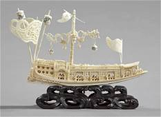 125: LARGE IVORY (Kuang Hsu Ivory Model) of an Imperial