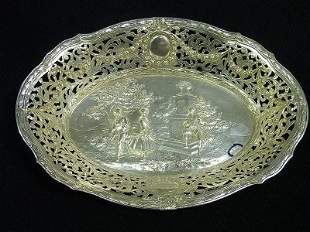10: SIGNED GERMAN (.800 fine) SILVER BOWL with ORNATE S
