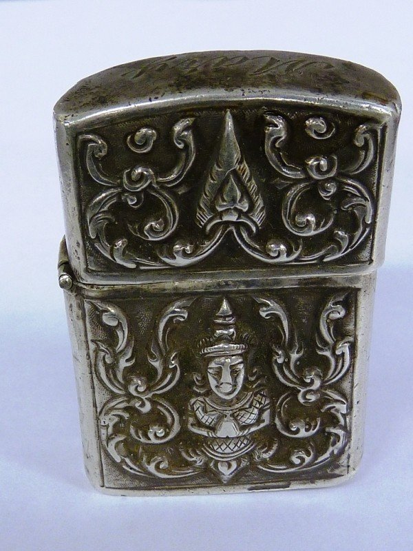 11: SIGNED (ALEX & CO. - STERLING) ANTIQUE LIGHTER - H