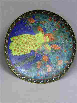 "16: LARGE 19TH CENTURY 16 1/2"" CLOISONNE CHARGER with T"