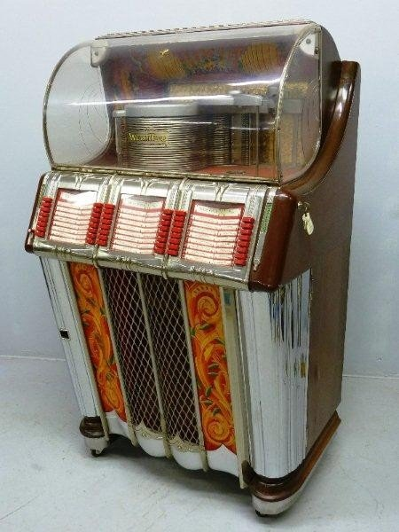 265: 1950's Signed WURLITZER Model 1250 Jukebox, Hgt 60