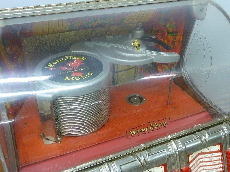 265: 1950's Signed WURLITZER Model 1250 Jukebox, Hgt 60 - 3