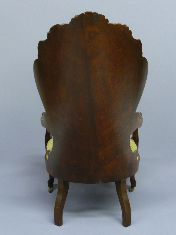 309: JOHN HENRY BELTER LAMINATED ROSEWOOD ARM CHAIR - H - 4