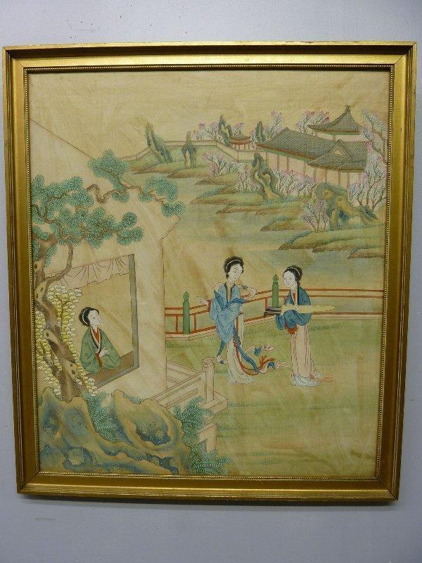 100: CHINESE Signed (WON TAI, PEKING CHINA) WATERCOLOR