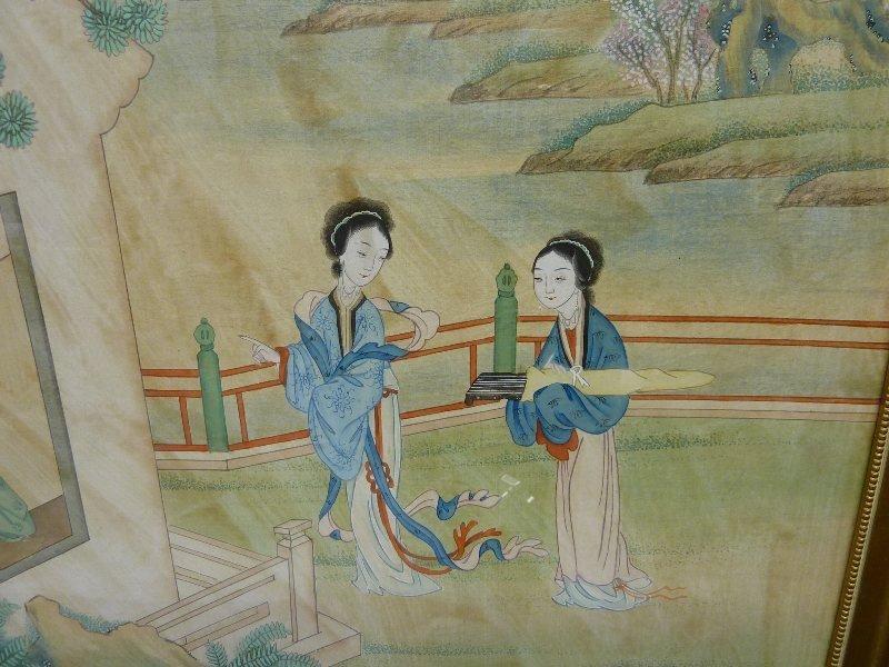 100: CHINESE Signed (WON TAI, PEKING CHINA) WATERCOLOR  - 3