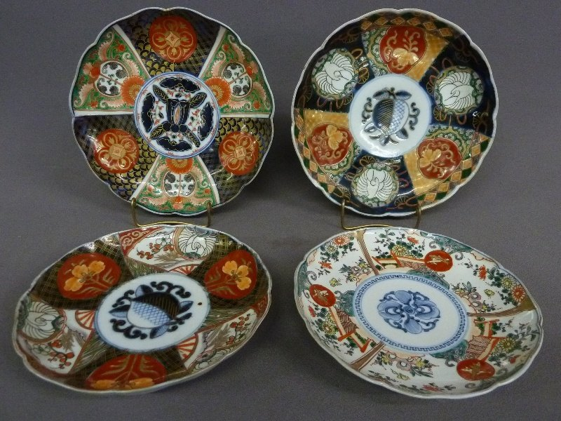 13: Four 19th - Century IMARI PLATES - upper 2 plates D