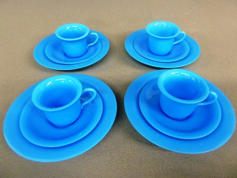 17: Twelve Pieces of Blue Peking Glass with Cup, Saucer