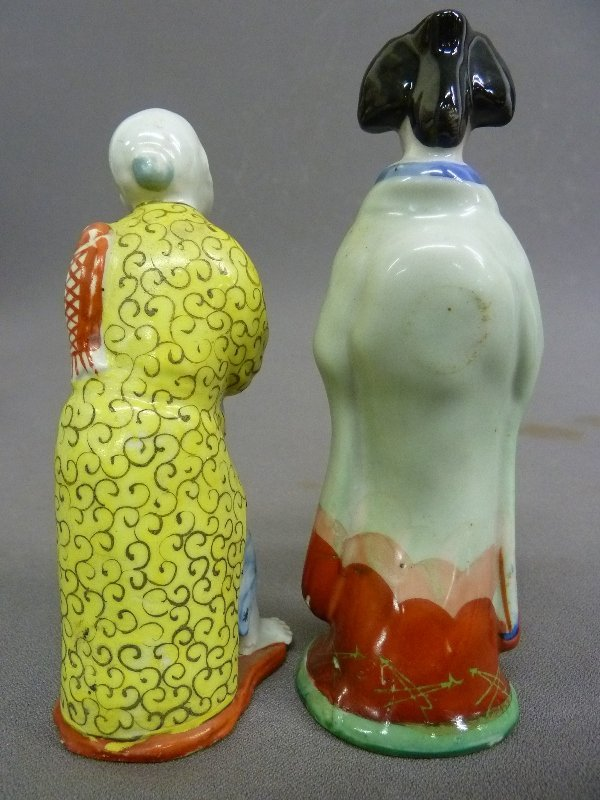 Two Porcelain Signed Chinese Figures, one of Monk and o - 2