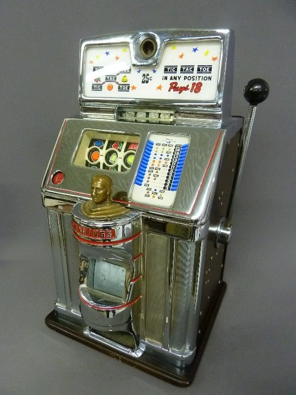 Circa 1940's Jennings Governor 25 Cent Slot Machine Tic - 2