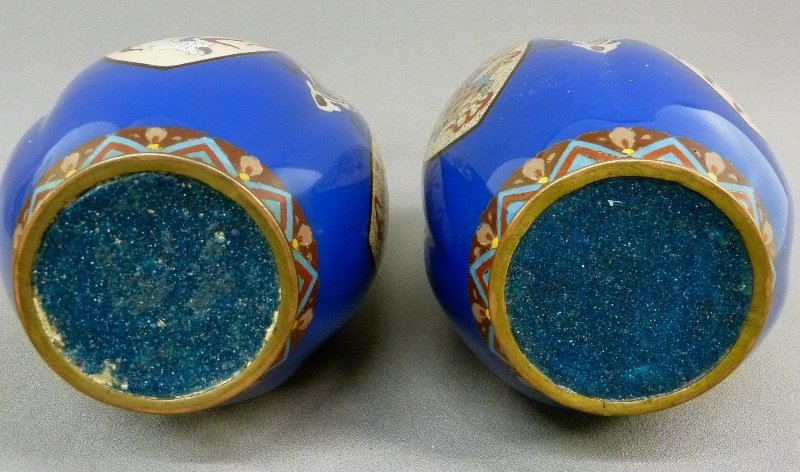 Early 20th Century Pair of High Quality Cloisonne Vases - 5