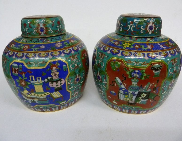 Early 20th Century Chinese Cloisonne Large Covered