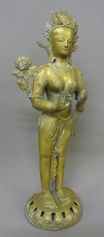 "Brass Thai mythical figure - height 29"" width 11"" depth"
