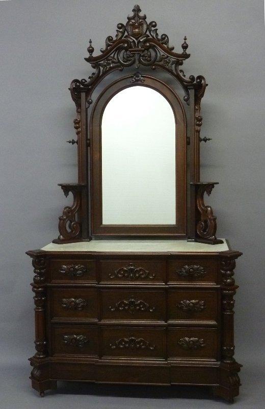 Supurb Circa 1850's Rosewood American Marble Top