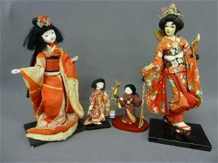Four Hand Made Marked Japan Dolls found in Red Wing Mn