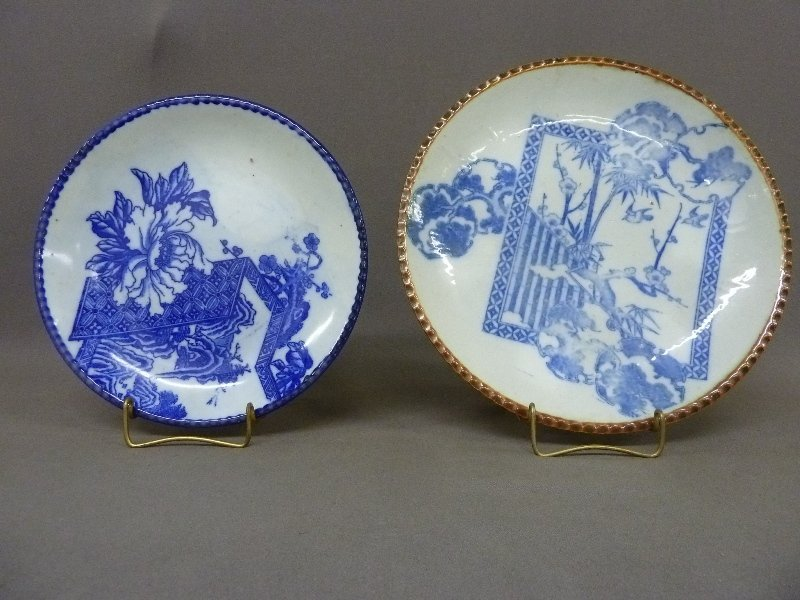 Two 19th Century Chinese Porcelain Chargers with Blue