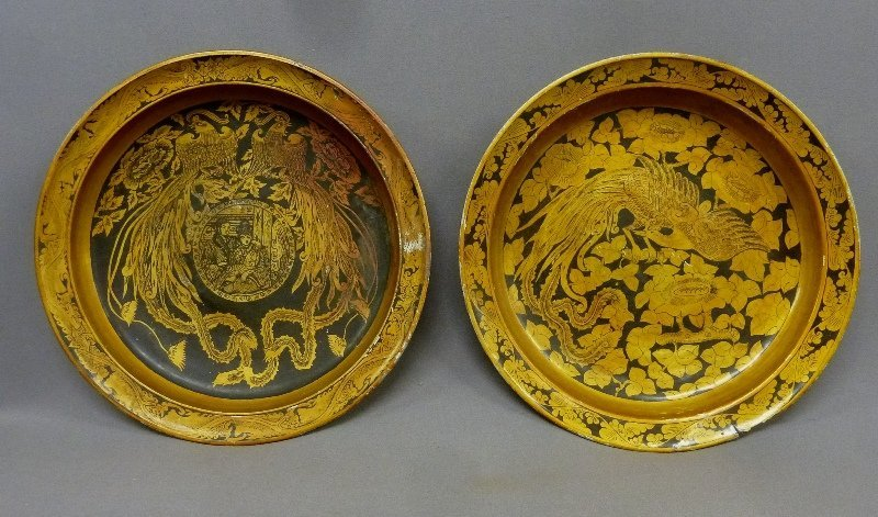 19th or Early 20th Century Gold Decorated Wooden