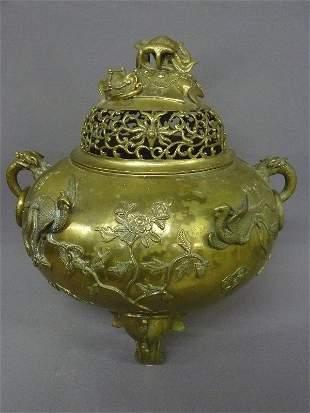 19th Century or earlier Massive Bronze Temple Incense