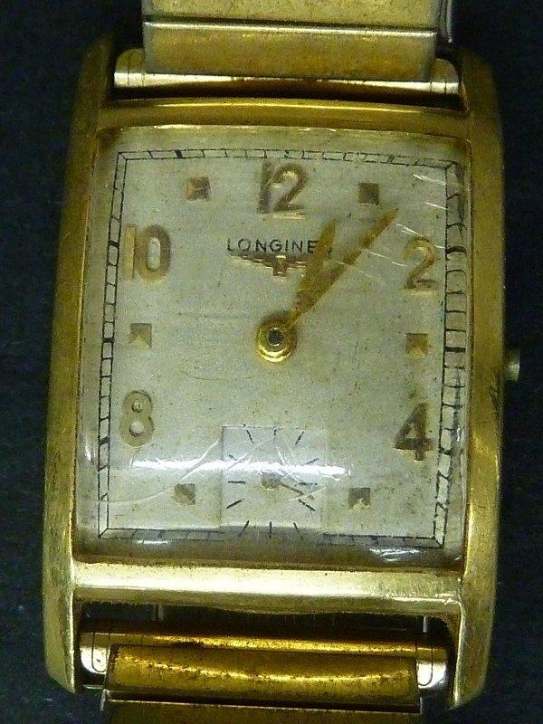 Vintage Marked 14K L&K Longines Gold Watch Engraved