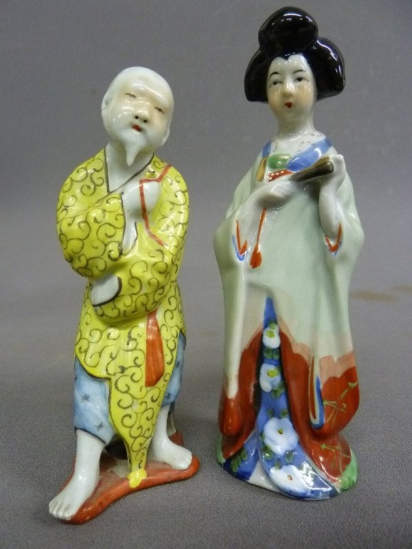 Two Porcelain Signed Chinese Figures, one of Monk and