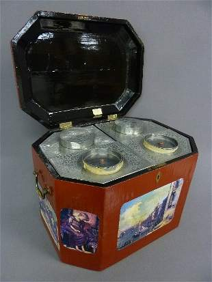 19th Century Chinese Tea Chest with Four Pewter