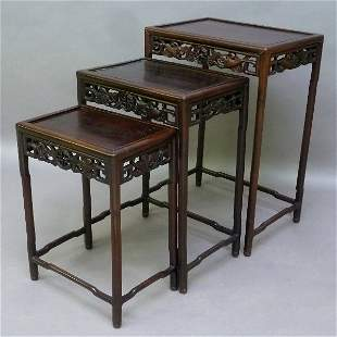 1st 1/4 of the 20th Century Rosewood Carved Asian