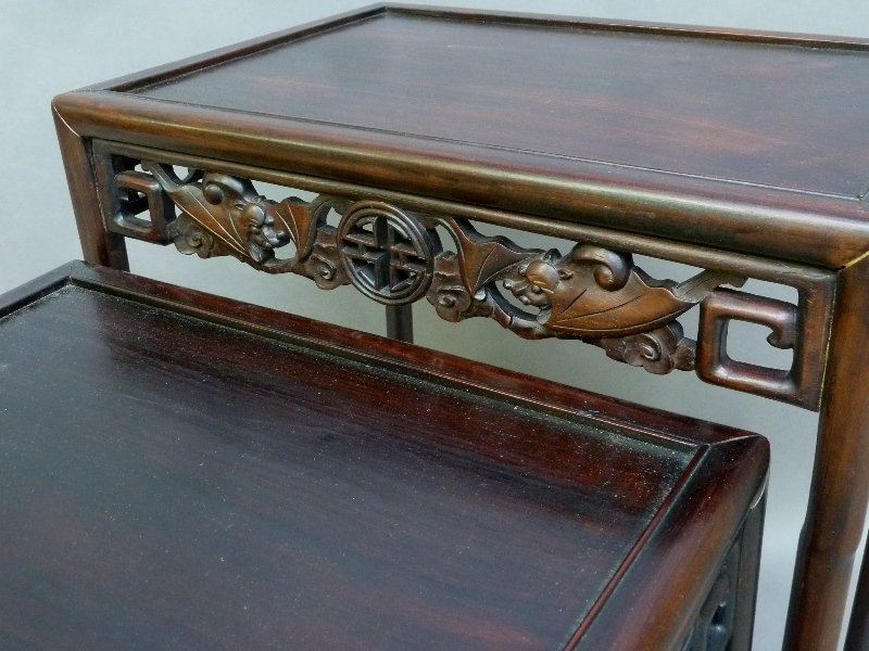 1st 1/4 of the 20th Century Rosewood Carved Asian - 2