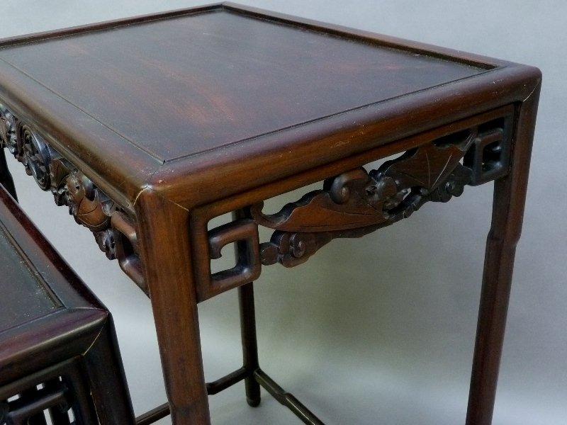1st 1/4 of the 20th Century Rosewood Carved Asian - 3