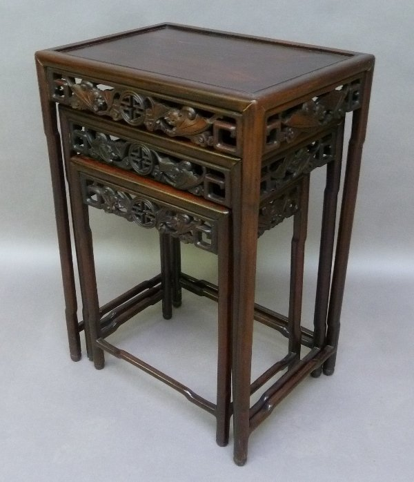 1st 1/4 of the 20th Century Rosewood Carved Asian - 4