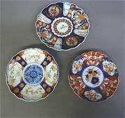 3 Antique Imari Plates  Dia Top one 9  lower left