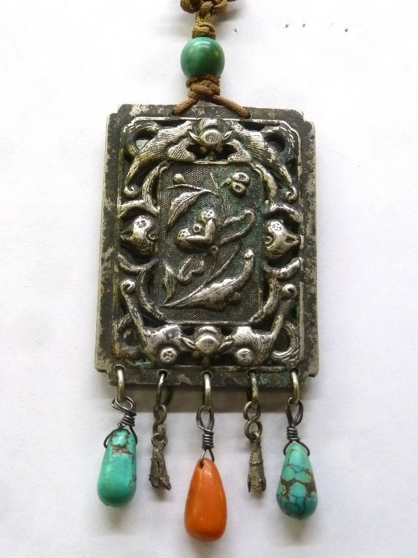 1940's Asian Amulet Pendant. Worn for luck and protect
