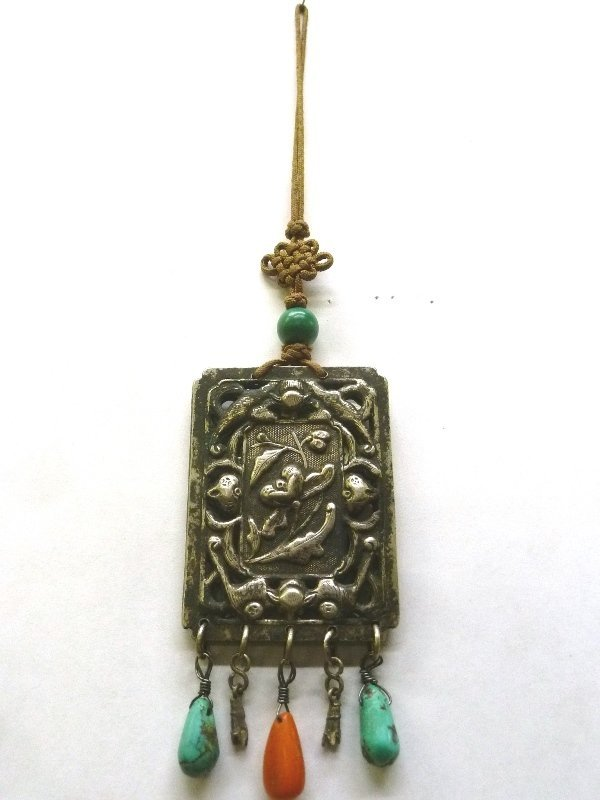 1940's Asian Amulet Pendant. Worn for luck and protect - 3
