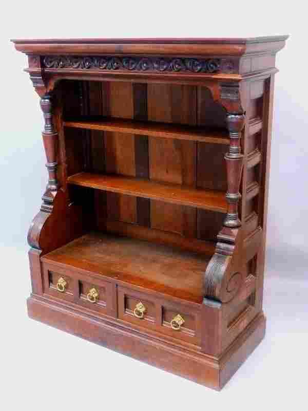 Superb Circa 1870's Cherry American Small Bookcase/
