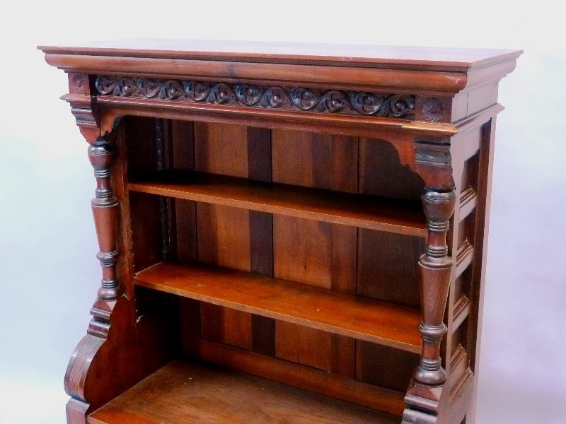 Superb Circa 1870's  Cherry American Small Bookcase/ - 2
