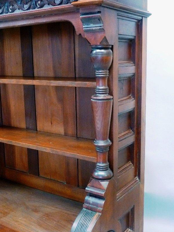 Superb Circa 1870's  Cherry American Small Bookcase/ - 3